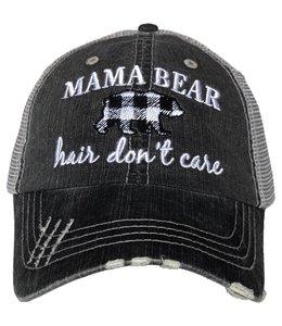 KATYDID MAMA BEAR HAIR DON'T CARE TRUCKER HAT