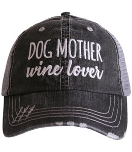 KATYDID DOG MOTHER WINE LOVER TRUCKER HAT