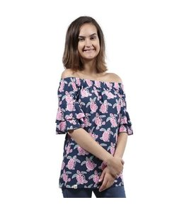 SIMPLY SOUTHERN TURTLE BLOUSE SP19-SASSTOP SASSY TOP