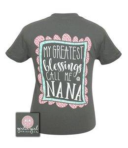 GIRLIE GIRL ORIGINALS GREATEST BLESSINGS NANA T-SHIRT