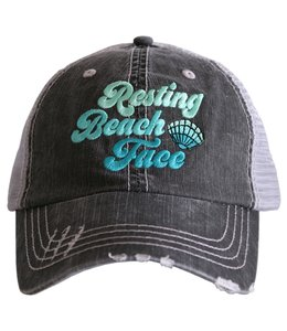 KATYDID KATYDID RESTING BEACH FACE TRUCKER HAT