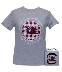 GIRLIE GIRL ORIGINALS SOUTH CAROLINA BUFFALO PLAID T-SHIRT