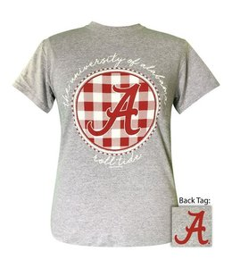 GIRLIE GIRL ORIGINALS ALABAMA BUFFALO PLAID T-SHIRT