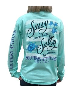SOUTHERN ATTITUDE LONG SLEEVE T-SHIRT SASSY SINCE BIRTH