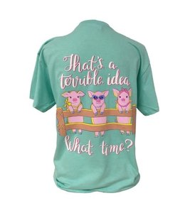 SOUTHERN ATTITUDE WHAT TIME PIGGIES T-SHIRT