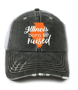 KATYDID KATYDID ILLINOIS BORN AND RAISED HAIR TRUCKER HAT