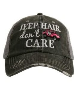 KATYDID JEEP HAIR DON'T CARE TRUCKER HAT