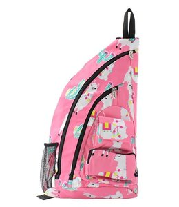 NGIL BACKPACK SLING LLAMA WORLD PINK LMP 736