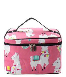 NGIL Cosmetic Bag Large llama World Pink LMP 983