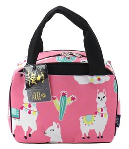 NGIL LUNCH TOTE LLAMA WORLD PINK LMP 255