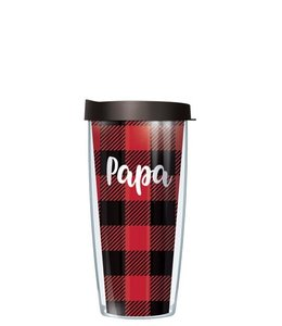 SIGNATURE  TUMBLERS TUMBLER 24 OZ BUFFALO PLAID