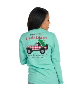 SIMPLY SOUTHERN T-SHIRT YOUTH PREPPIN Jeep LONG SLEEVE