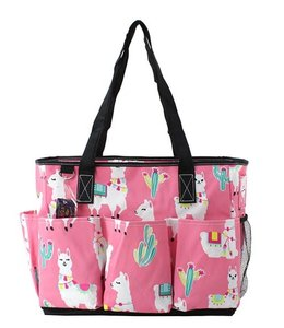 NGIL TOTE BAG LARGE UTILITY LLAMA WORLD PRINT LMP 604