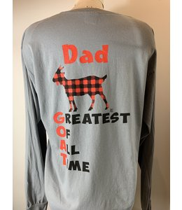 T-SHIRT MEN'S GREATEST GOAT LS GRANITE CC