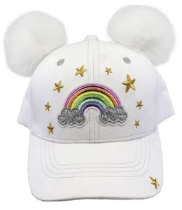 Charm It RAINBOW POM POM BALL CAP