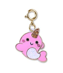 Charm It GOLD GLITTER NARWHALE CHARM CICC1380