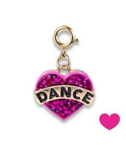Charm It GOLD GLITTER DANCE HEART CHARM CICC1388