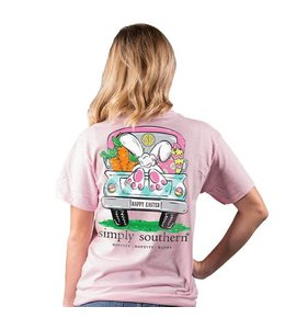 SIMPLY SOUTHERN T-SHIRT BUNNY HAPPY EASTER