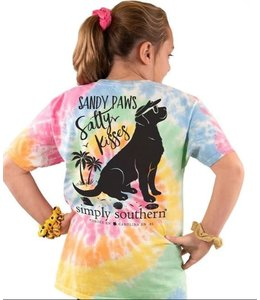 SIMPLY SOUTHERN T-SHIRT YOUTH SANDY PAWS SALTY KISSES DOG