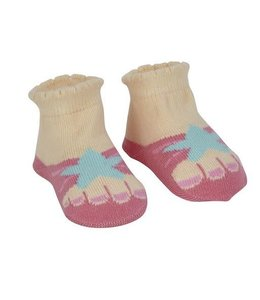 MAISON CHIC Starfish Sandal Socks Infant 0-6 months