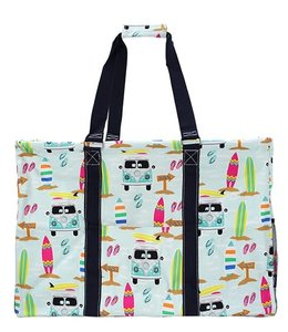 "NGIL TOTE ALL PURPOSE UTILITY ""SURF BEACH PRINT"" SUR 809"