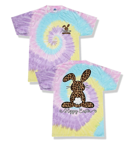 "SASSY FRASS T-SHIRT YOUTH ""HOPPY EASTER"" Tie Dye"