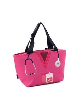 NGIL NURSE LUNCH TOTE NURS 1064 HOT PINK