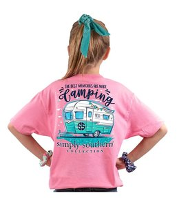 SIMPLY SOUTHERN T-SHIRT YOUTH CAMPING