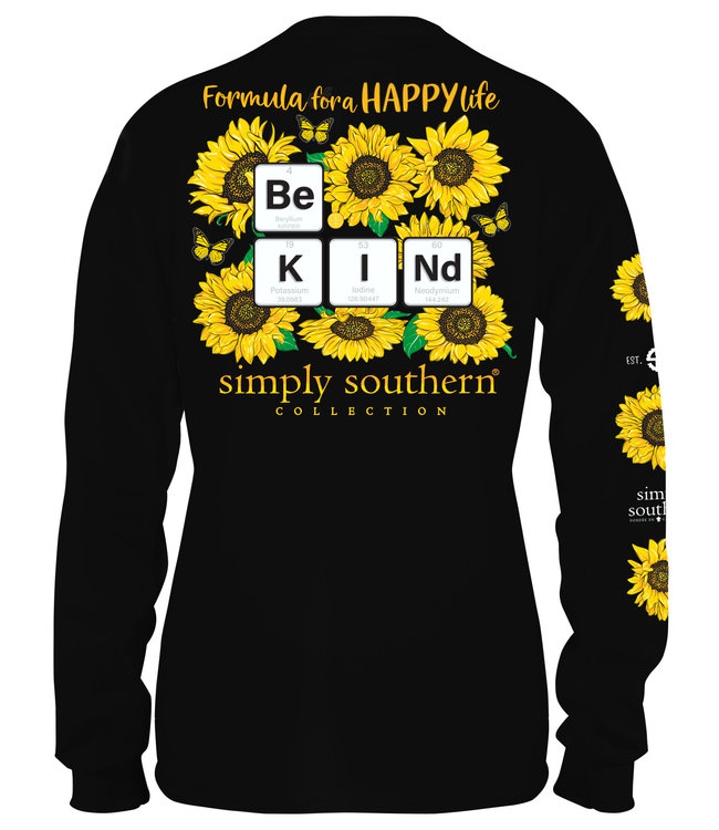 SIMPLY SOUTHERN Adult SS LS Kind Sun Black