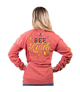 SIMPLY SOUTHERN Adult LS Bee Kind Spice