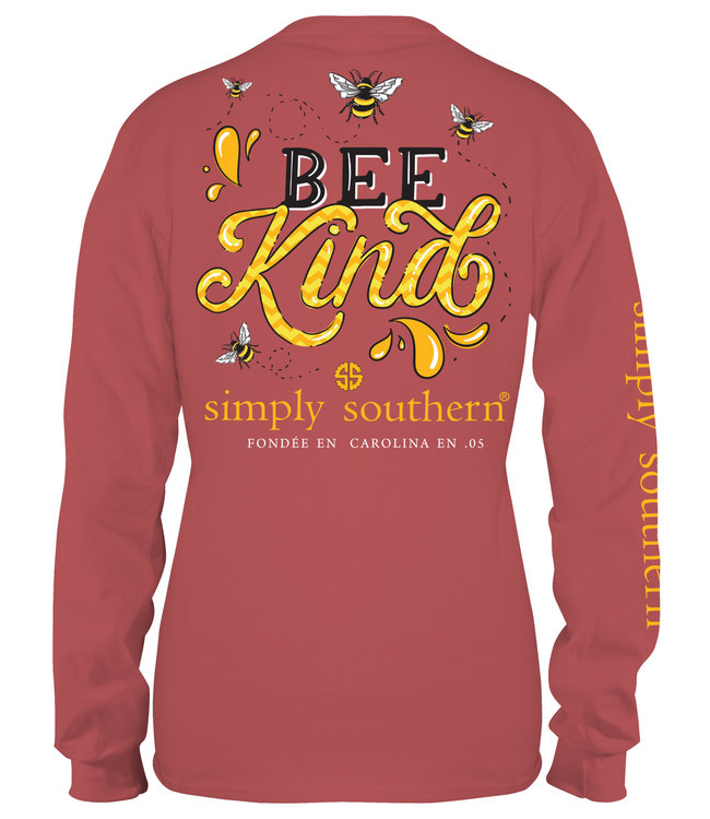 SIMPLY SOUTHERN Adult Long Sleeve Bee Kind Spice