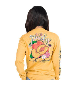 SIMPLY SOUTHERN Adult SS LS Peachy Mustard