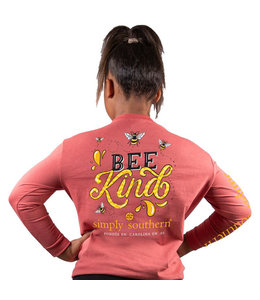SIMPLY SOUTHERN Youth SS LS Bee Kind Spice