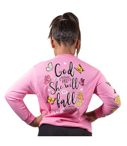 SIMPLY SOUTHERN Youth SS LS God Butterfly Flamingo