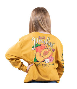 SIMPLY SOUTHERN Youth SS LS Peachy Mustard