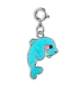 Charm It Glitter Dolphin Charm CICC 1341