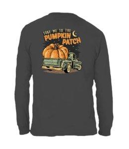 Anna Grace Tees T-shirt Pumpkin Patch LS  Graphite