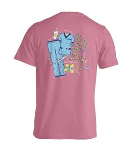 Anna Grace Tees SCRUBS With Her Hands Comfort Colors