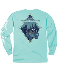 LILY GRACE T-Shirt Dream of Adventure Jeep Chalky Mint LS