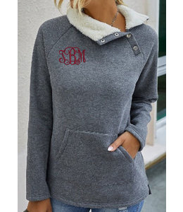 Fleece Lined Pullover w/ snaps 4221