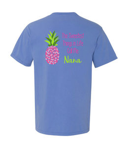 T-Shirt Sweetest Nana Pineapple Comfort Colors Short Sleeve