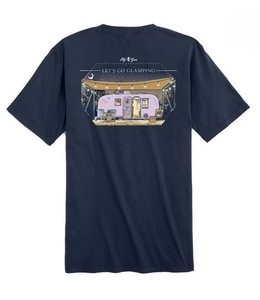 LILY GRACE T-Shirt Let's Go Glamping SS Navy