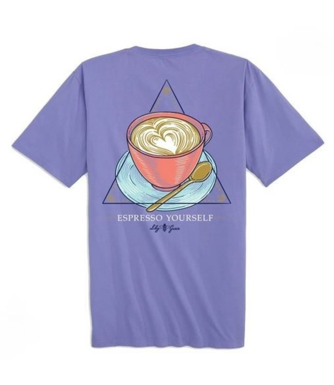 LILY GRACE T-Shirt Expresso Yourself SS Lavender