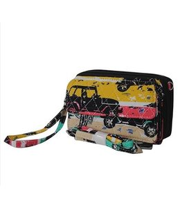NGIL Jeep Quilted Wristlet Wallet JEP 942
