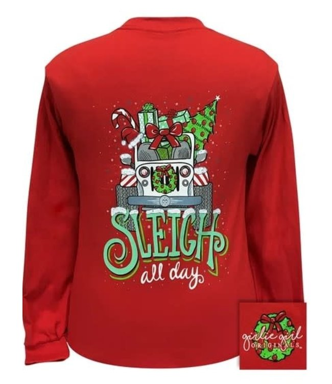 GIRLIE GIRL ORIGINALS T-shirt GG Sleigh All Day Red LS