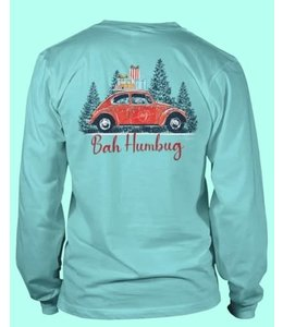 Anna Grace Tees T-shirt Bah Humbug LS Anna Grace Chalky Mint
