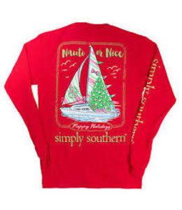SIMPLY SOUTHERN T-SHIRT YOUTH SIMPLY SOUTHERN NAUTI LS