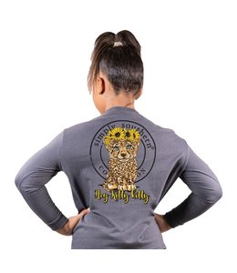SIMPLY SOUTHERN Youth SS LS Hey Kitty Kitty Leopard