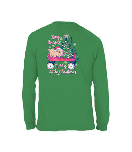 CHLOE LANE T-Shirt Merry Little Christmas Pig Chloe Lane LS