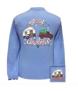 GIRLIE GIRL ORIGINALS T-shirt Merry Christmas Trailer GG LS Carolina
